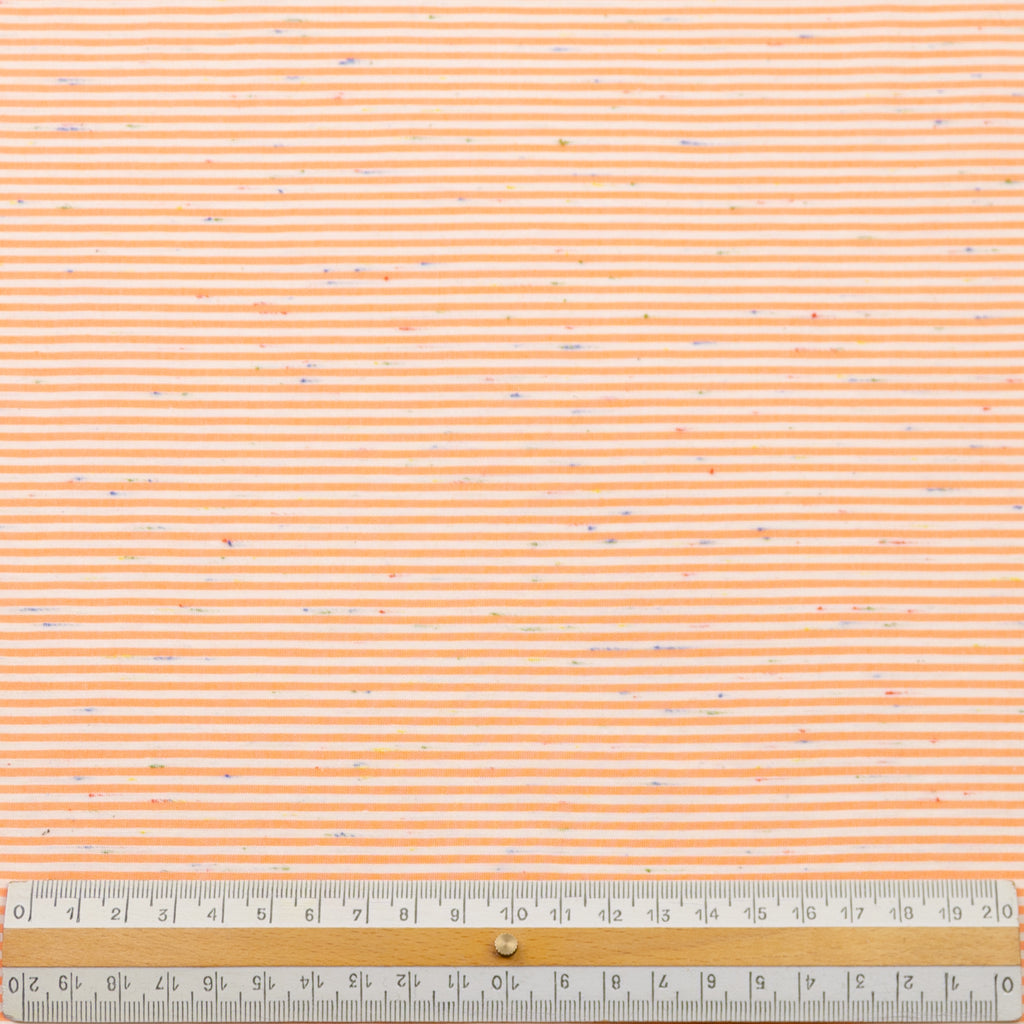 Akihiro White Orange Stripe Cotton