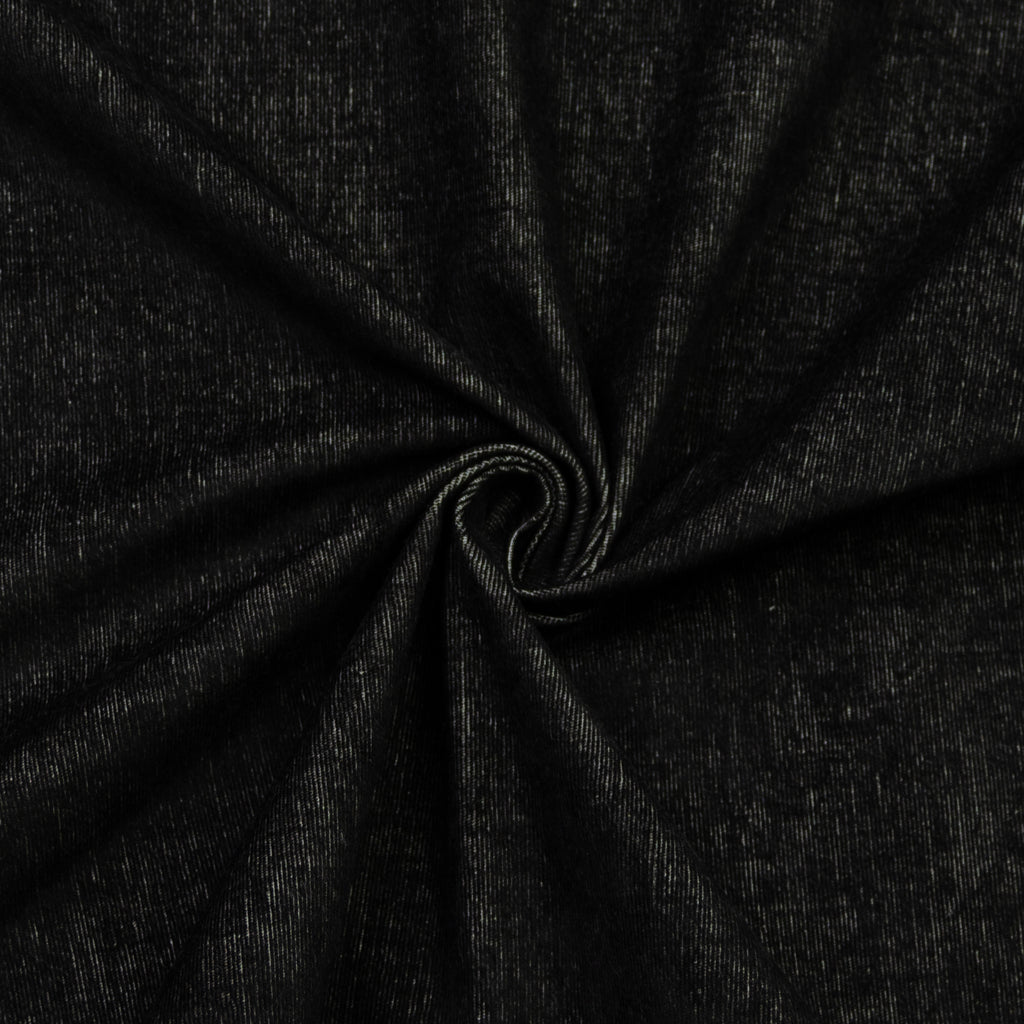 Adjo Black White Cotton Corduroy Stretch
