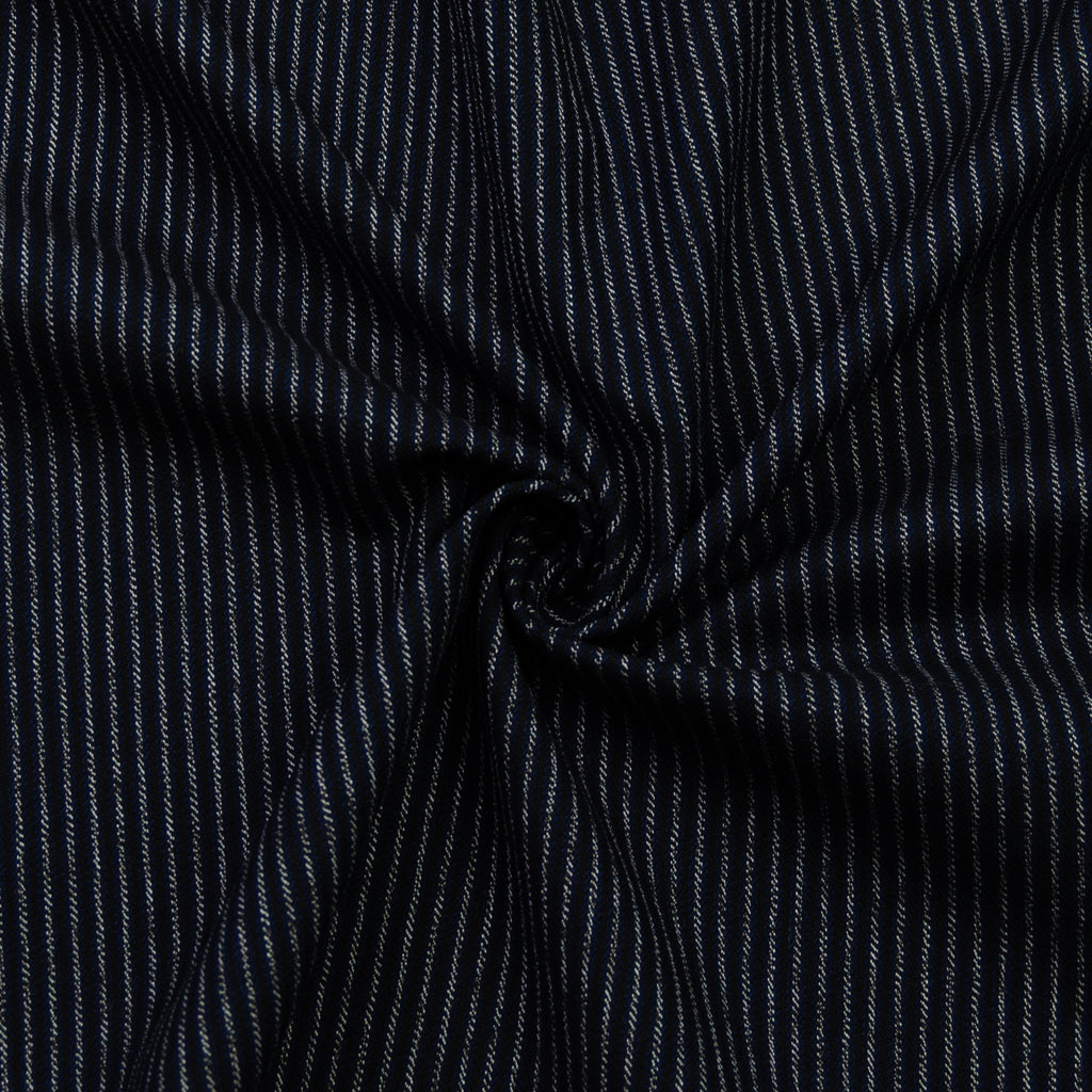 Adity Navy Blue Striped Wool