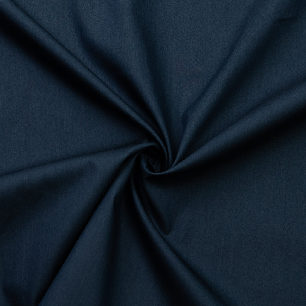 Alpine Blue Cotton Poplin