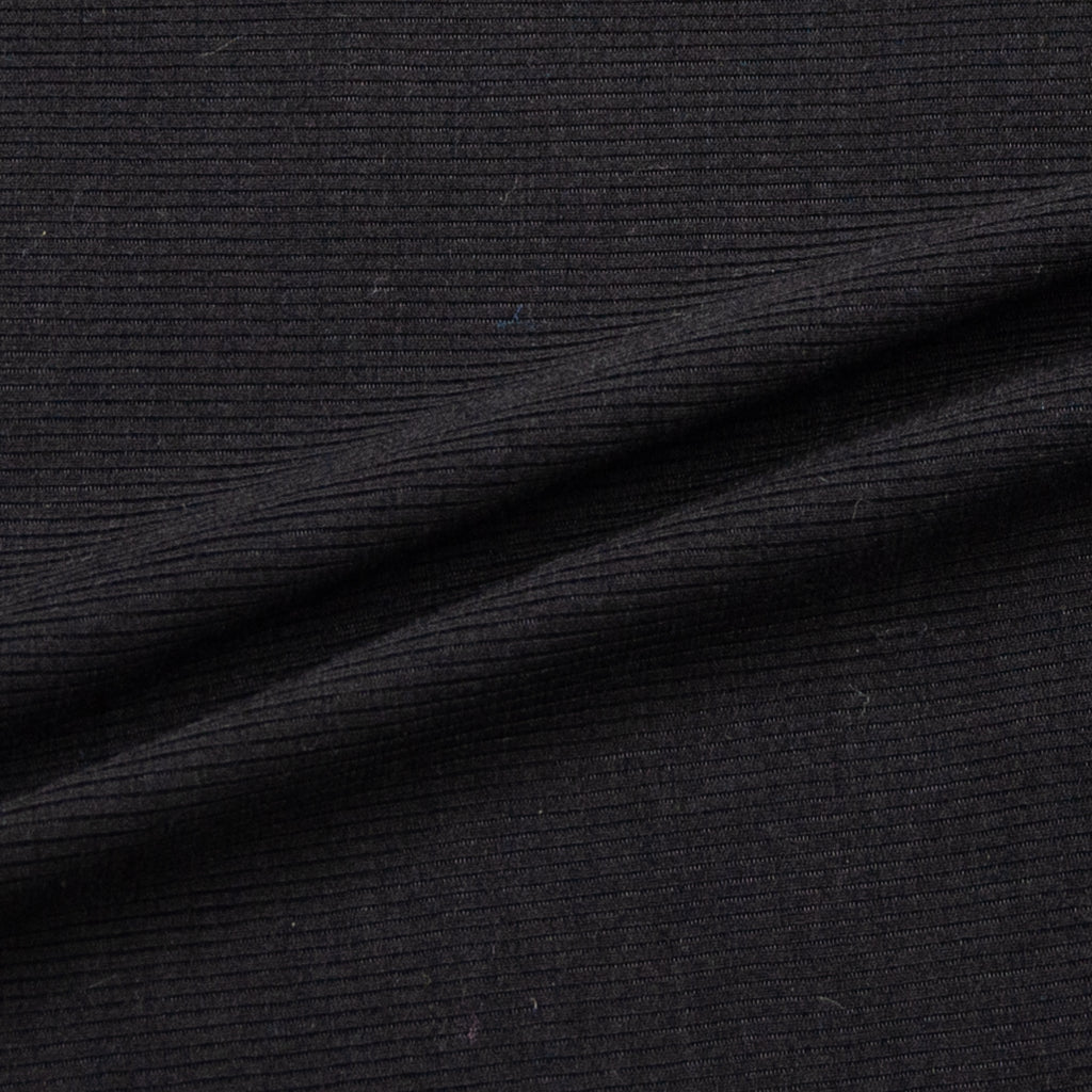 Adem Black Ribbed Jersey Cotton