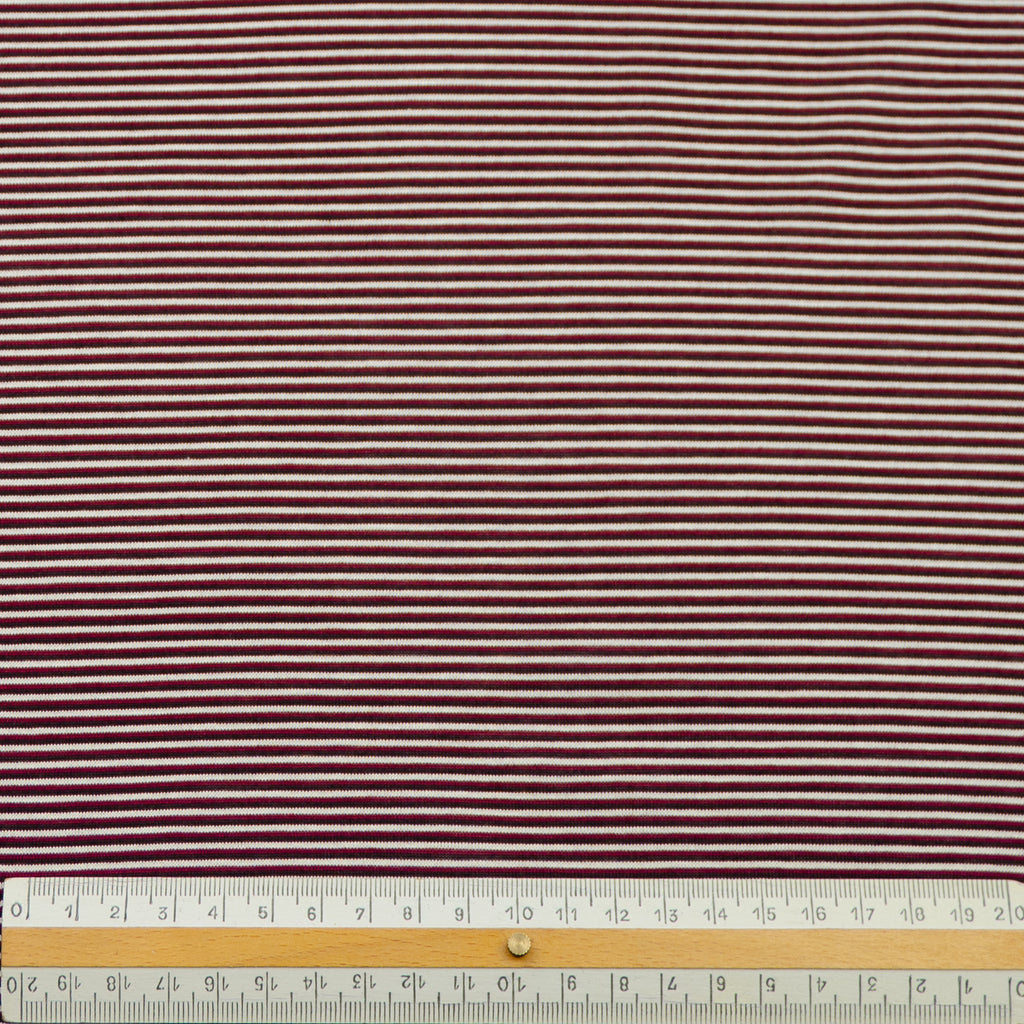 Samantha Striped Burgundy Cotton Jersey