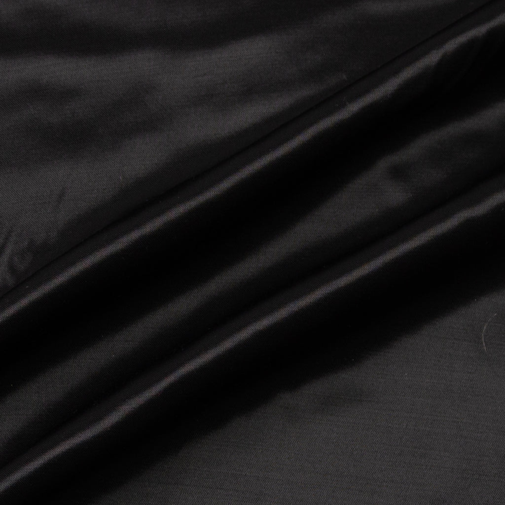Aira Black Silk Satin