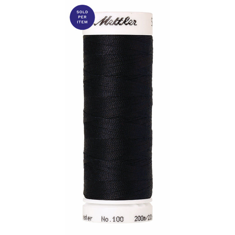 Sewing thread Seralon 0821 Darkest Blue