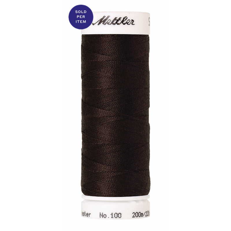 Sewing thread Seralon 1002 Very Dark Brown