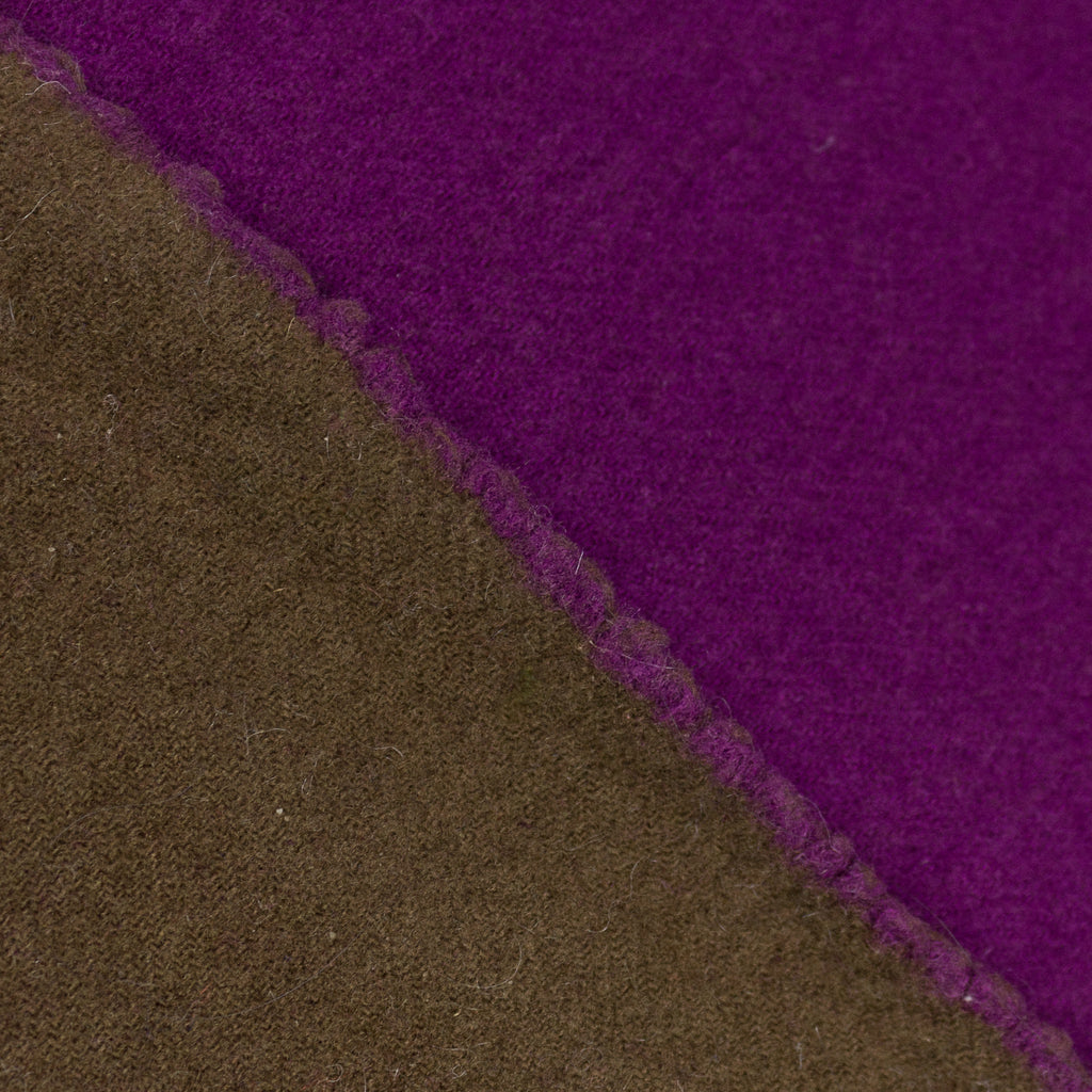 Carmelina Purple Brown Double Face Wool