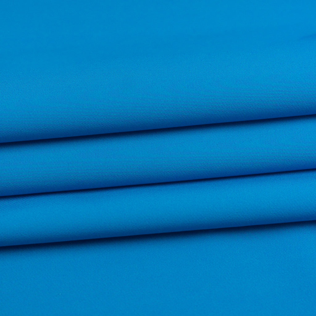 Aqua Blue and White Double Face Polyester