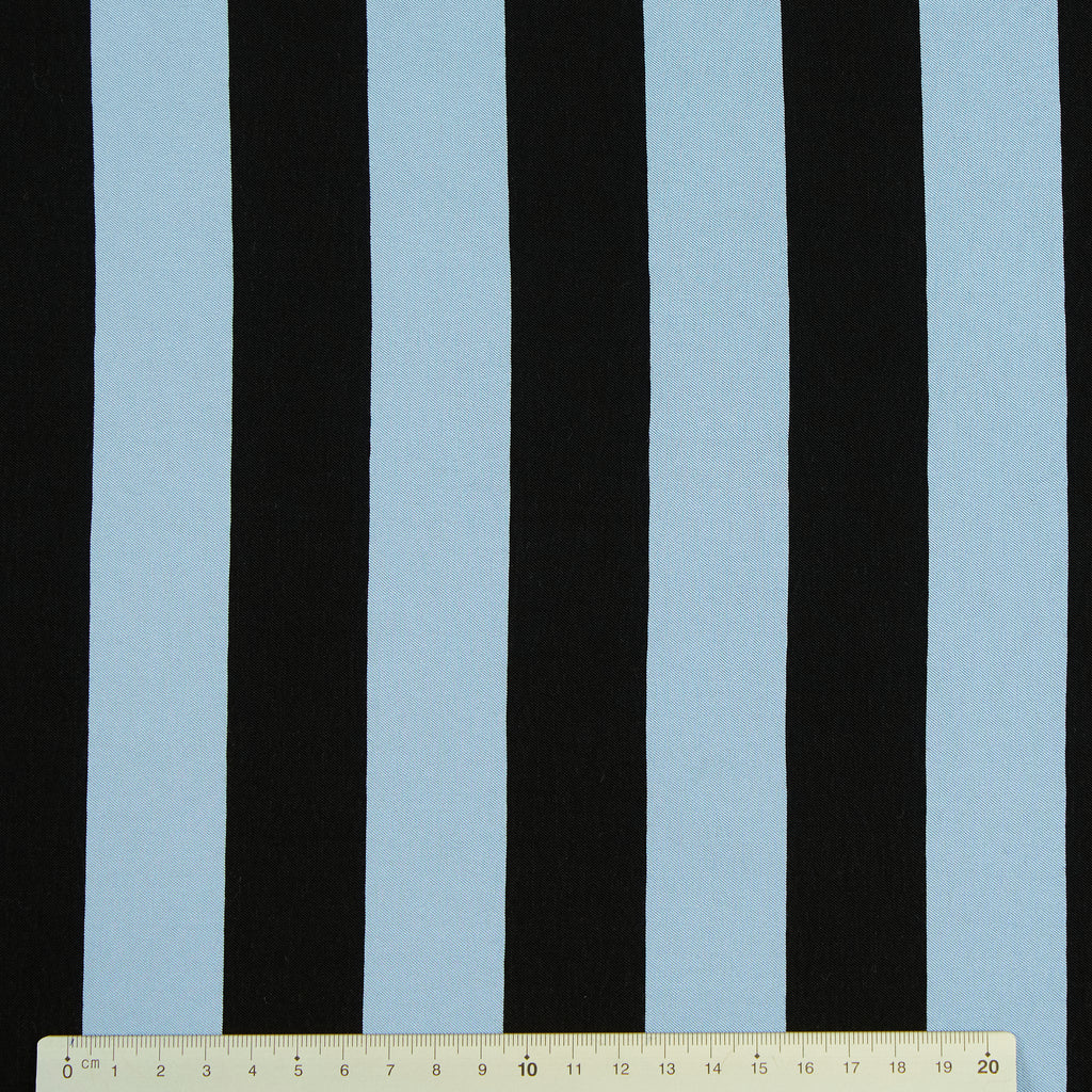 Daniel Blue & Black Striped Viscose