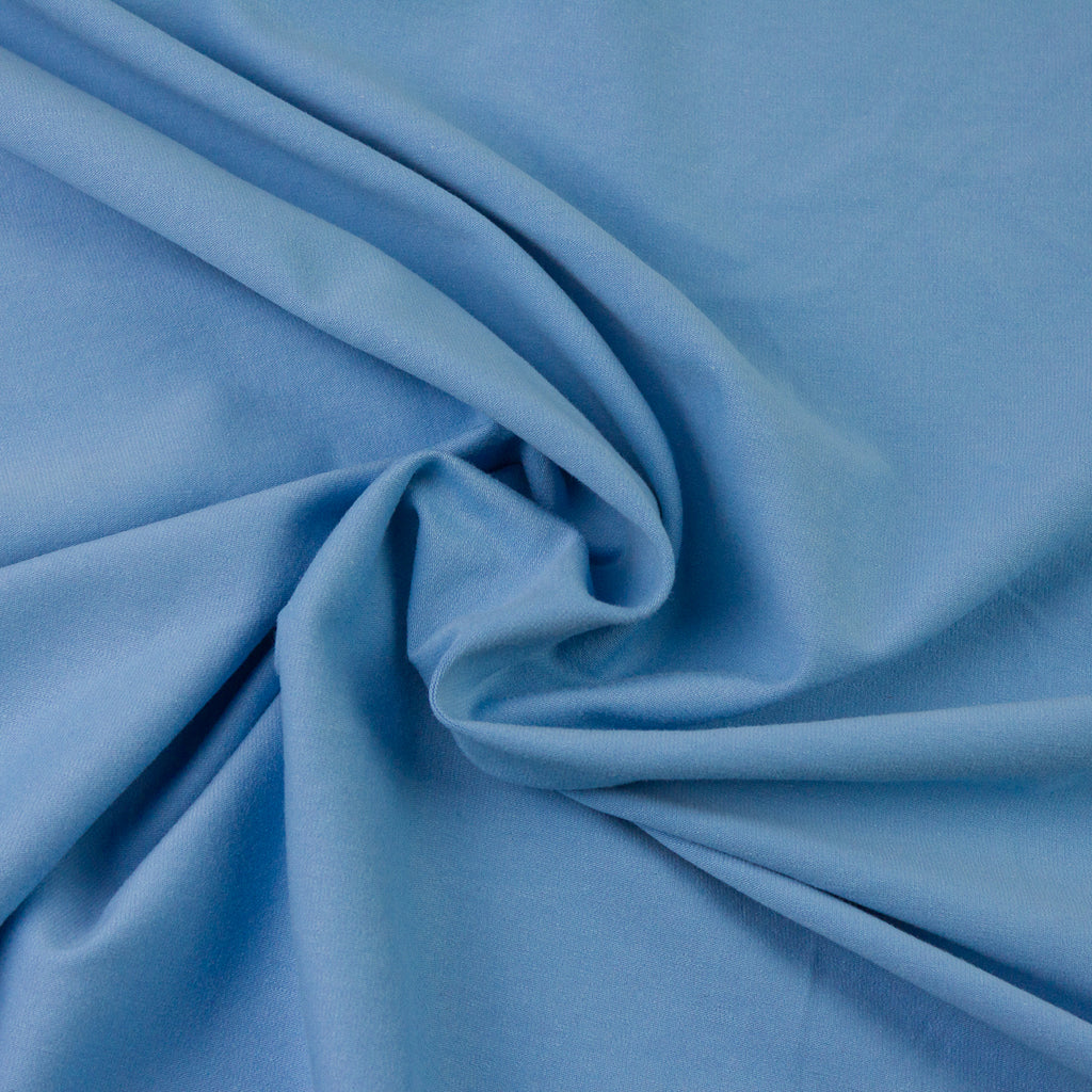 Delma Sky Blue Brushed Cotton Jersey