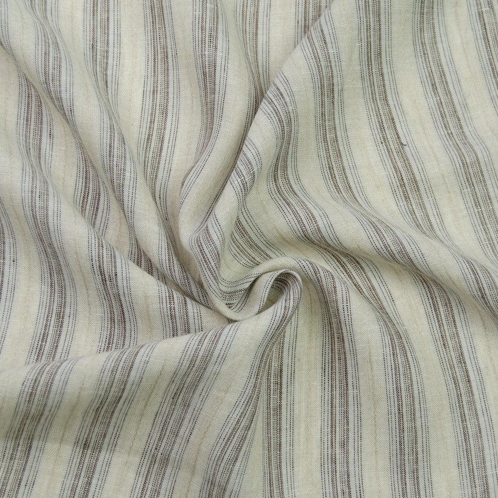 Daichi Beige & Brown Stripe Cotton