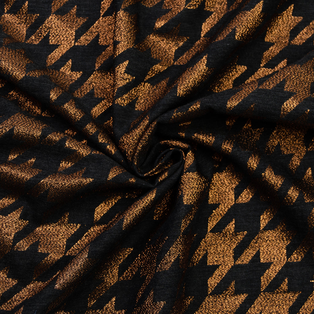 Damien Black & Bronze Pied de Poule Cotton