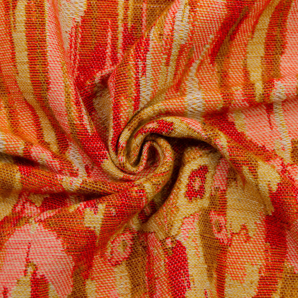 Dakari Orange Grafic Cotton Blend