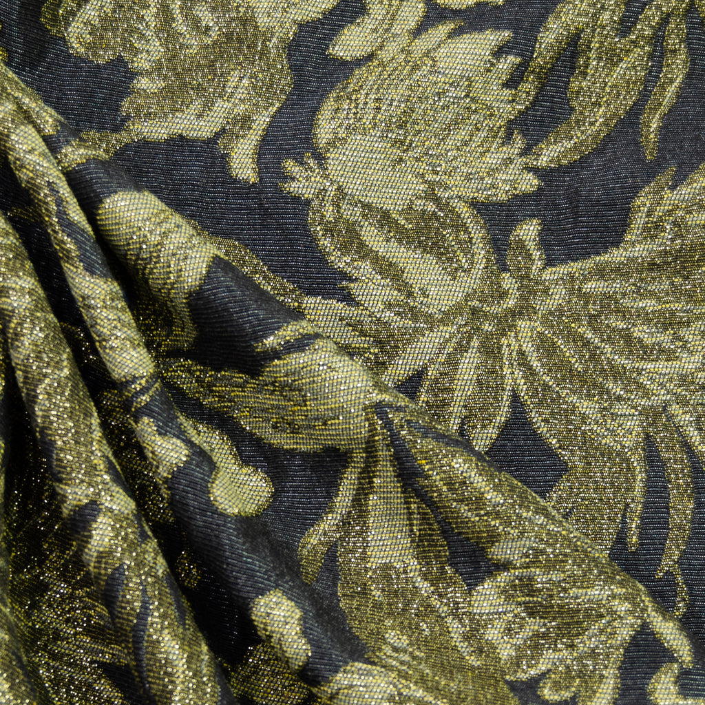 Dany Gold & Black Floral Cotton Blend