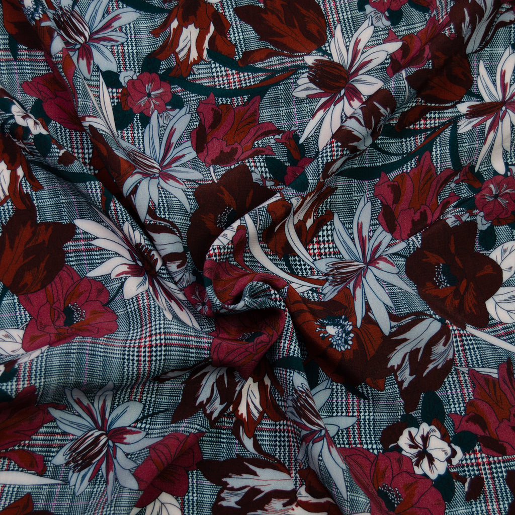 Tykaja Red Blue Printed Viscose