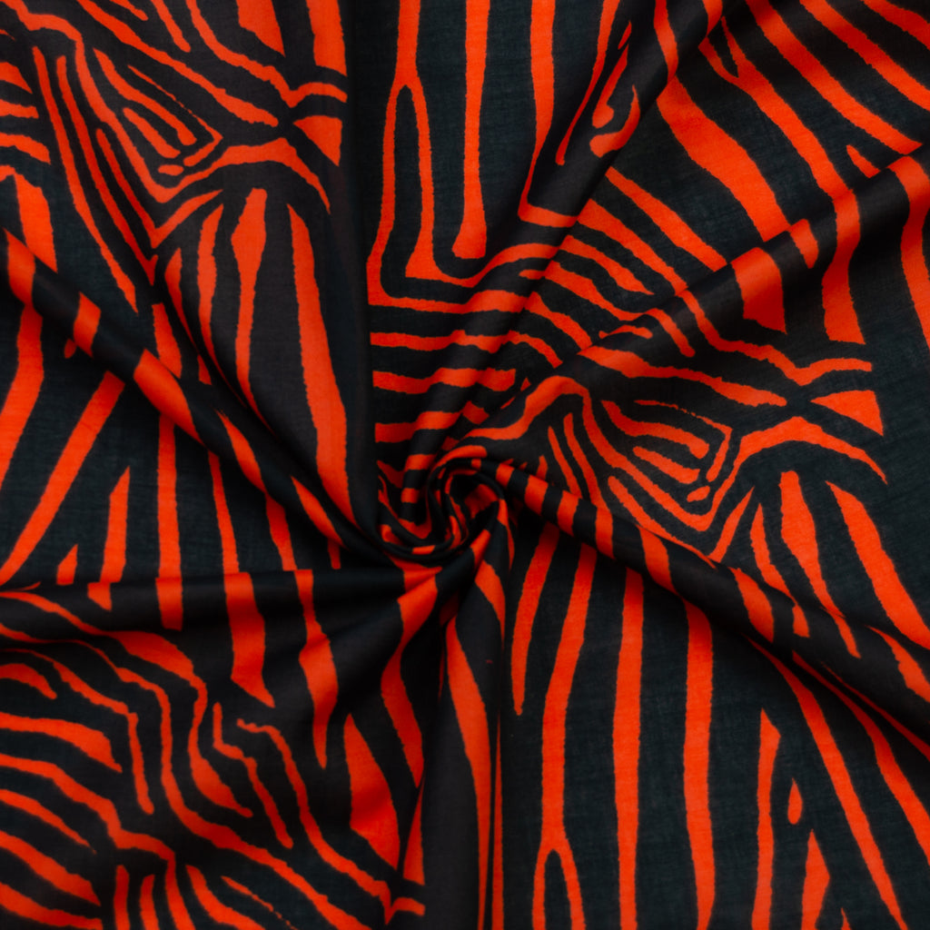 Dalton Orange Zebra Cotton
