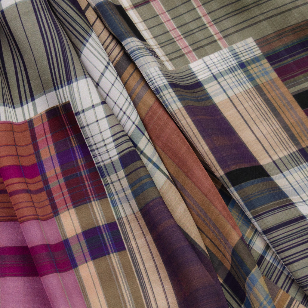 Damon Multicolour Plaid Polyester
