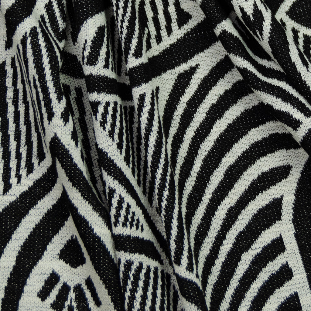 Damali Black & White Graphic Cotton Jersey