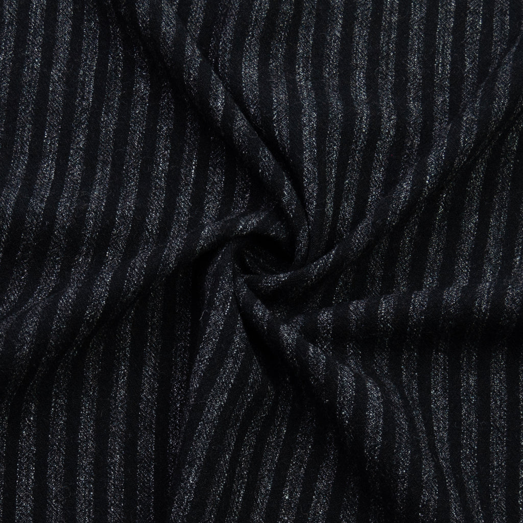 Jadran Black Japanese Striped Linen Wool