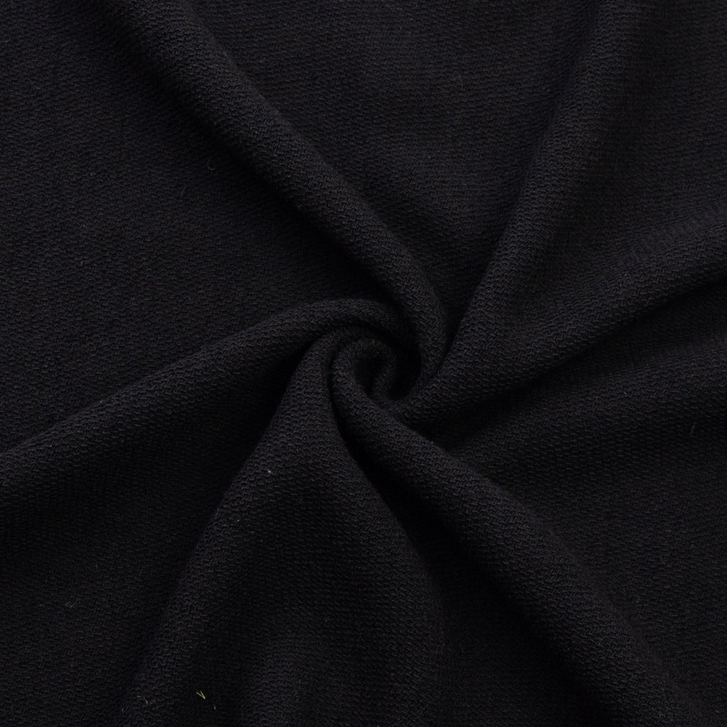 Jade Black Textured Knitted Wool