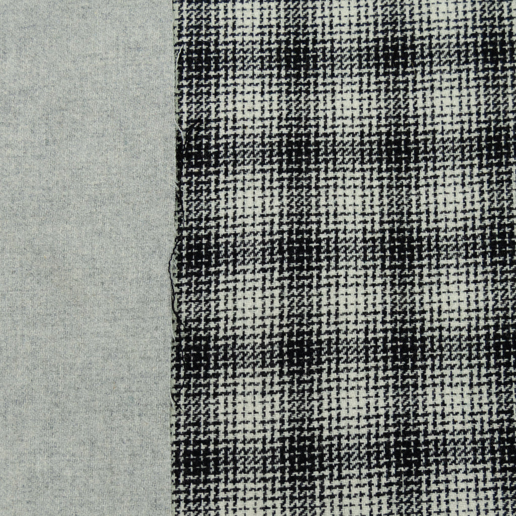 Adra Black & White Plaid Wool