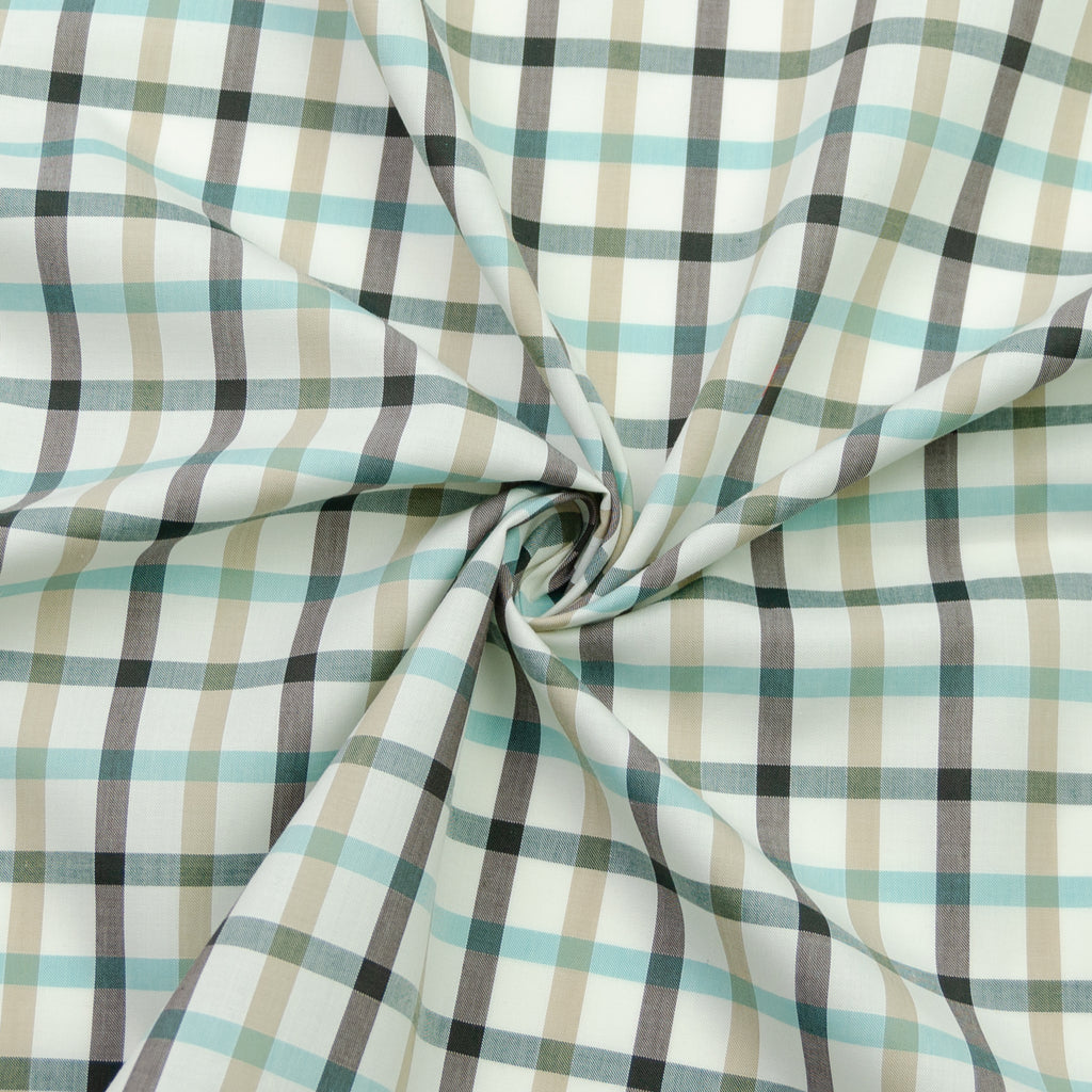 Waldemar Seaside Natural Plaid Cotton