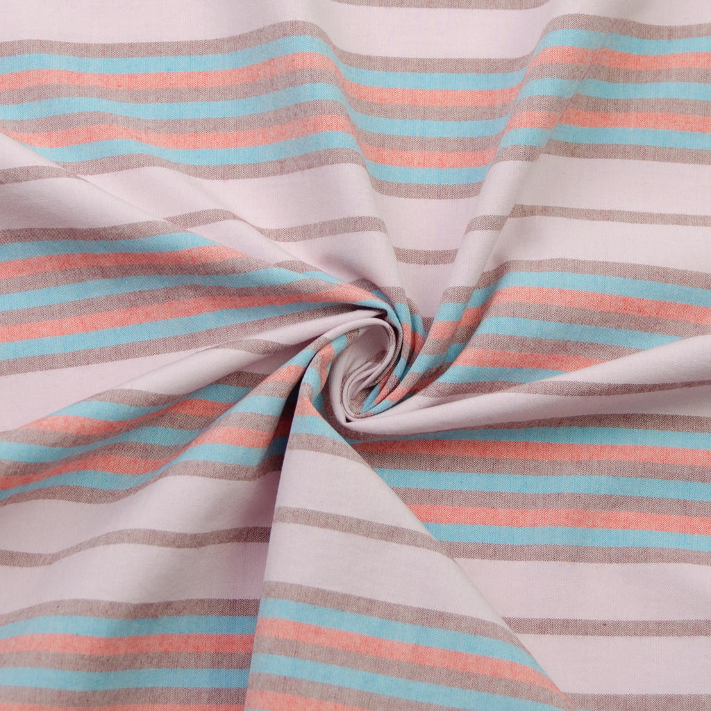 Wandella Striped Pink Oxford Cotton