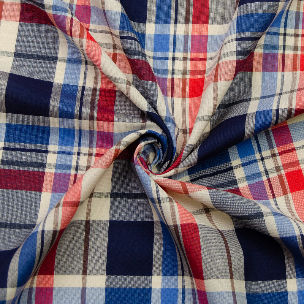 Waller Navy & Red Plaid Cotton