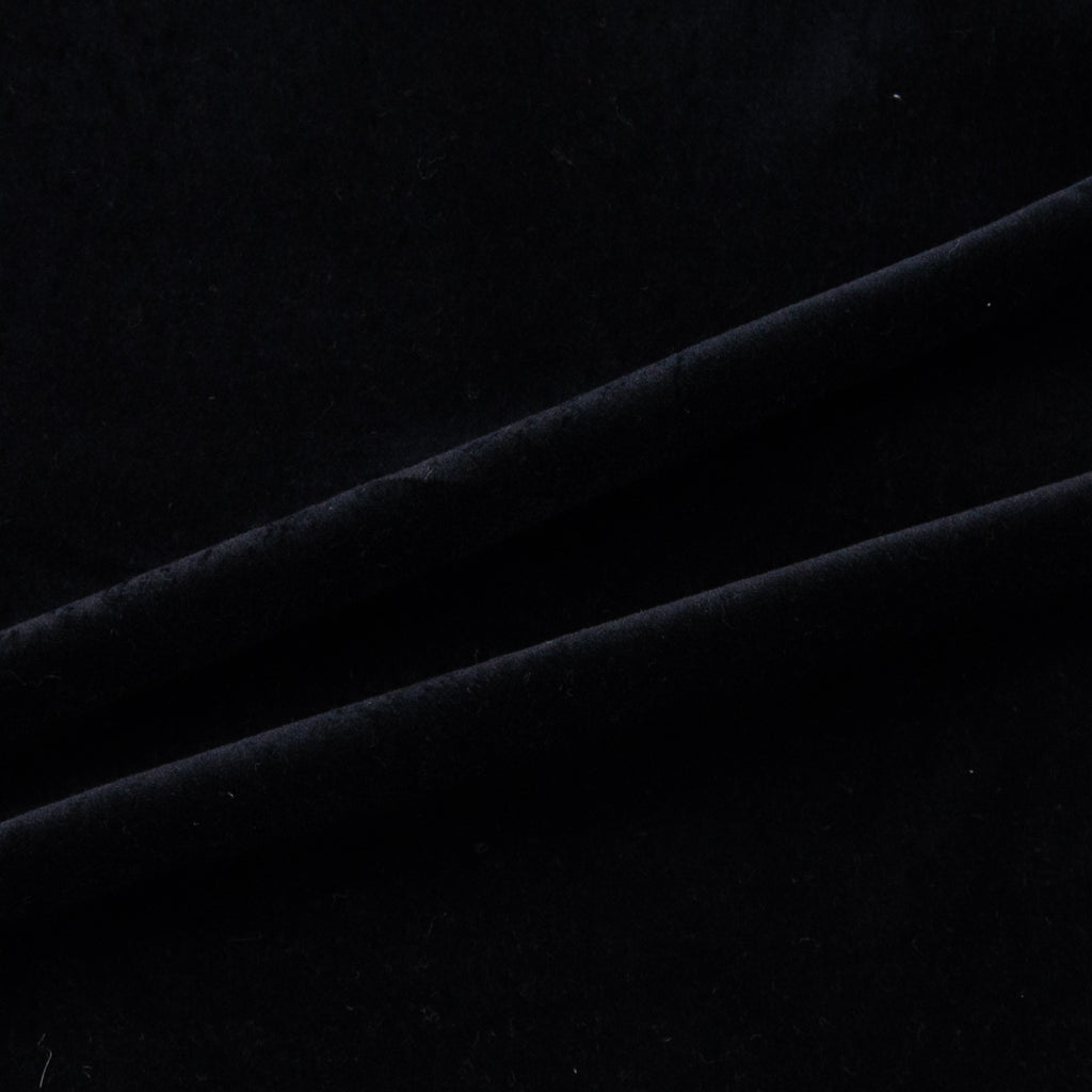 Elise Black Velvet Cotton