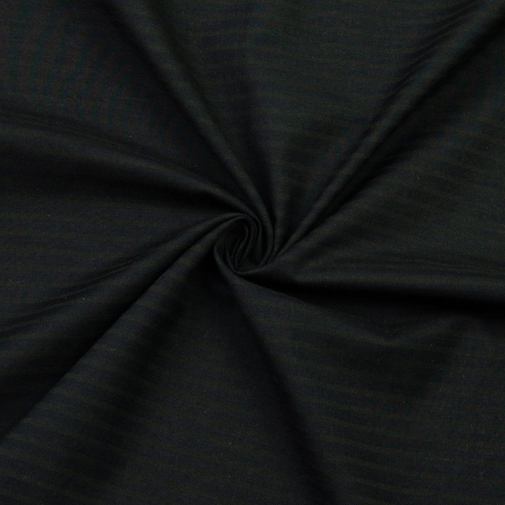 Jacinta Black Striped Silk Cotton Wool