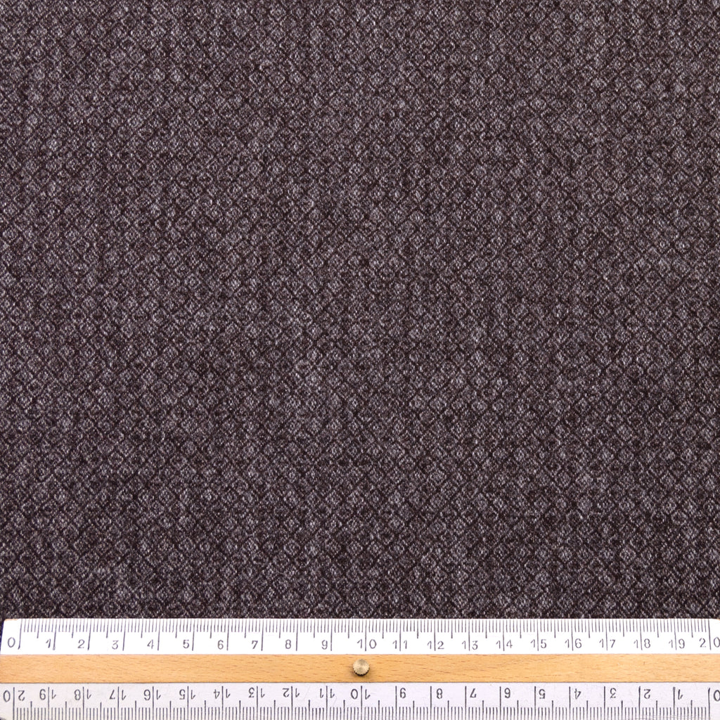 Balthazar Brown Jacquard Wool Blend