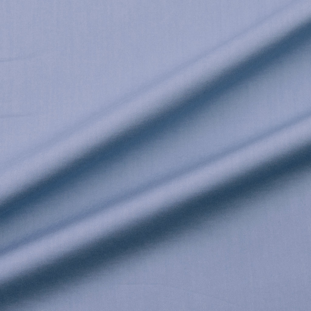 Caelan Dusty Blue Stretch Cotton Blend