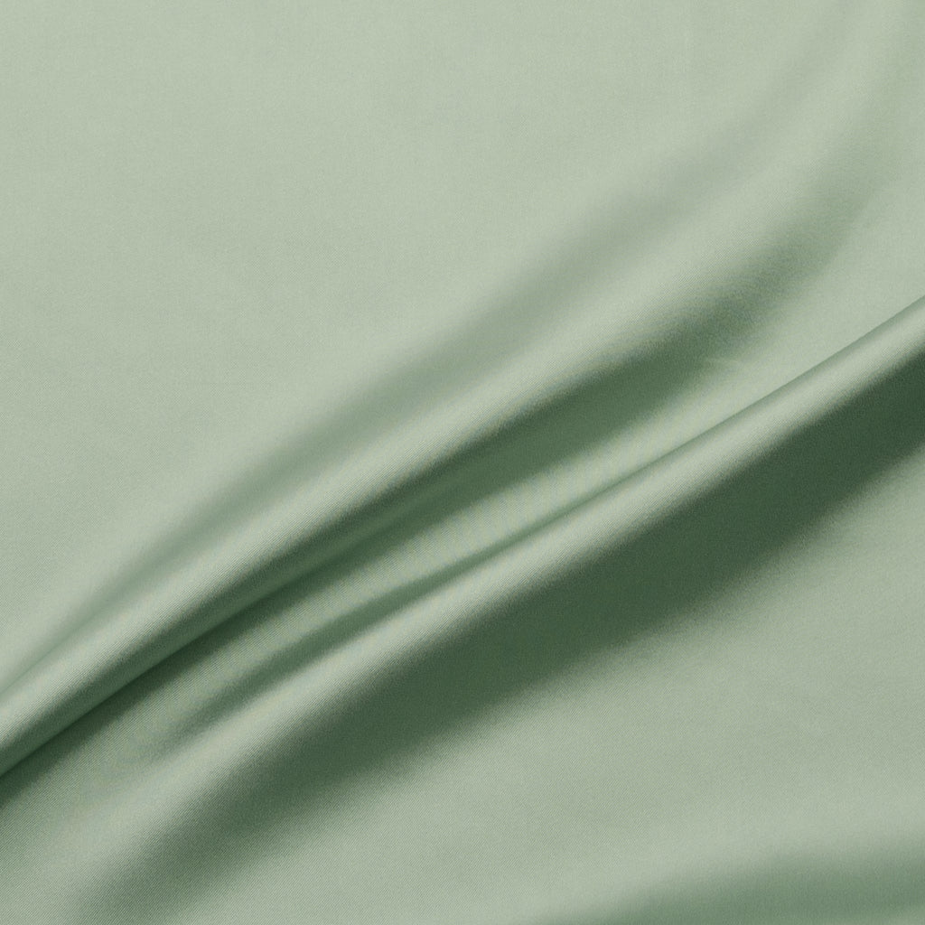 Cage Green Stretch Viscose Satin