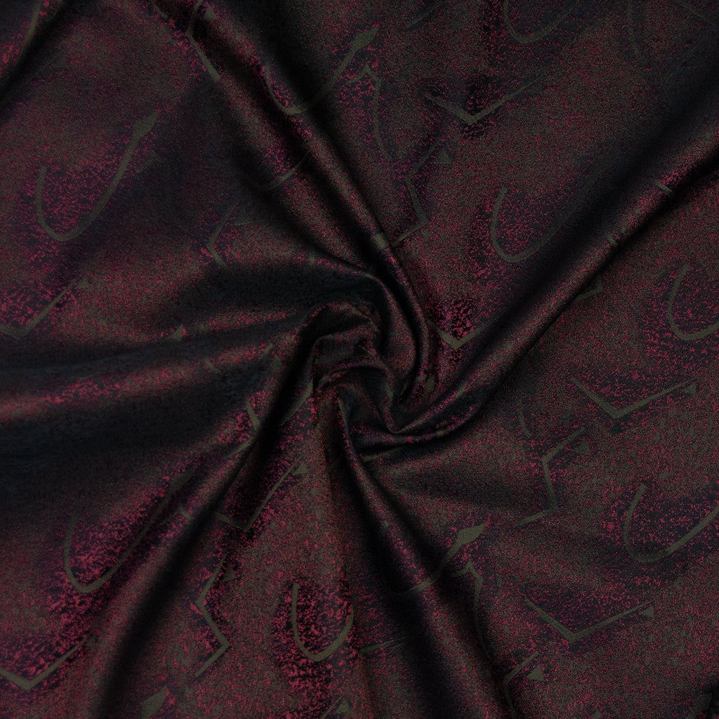 Akando Brown Red Jacquard Polyamide