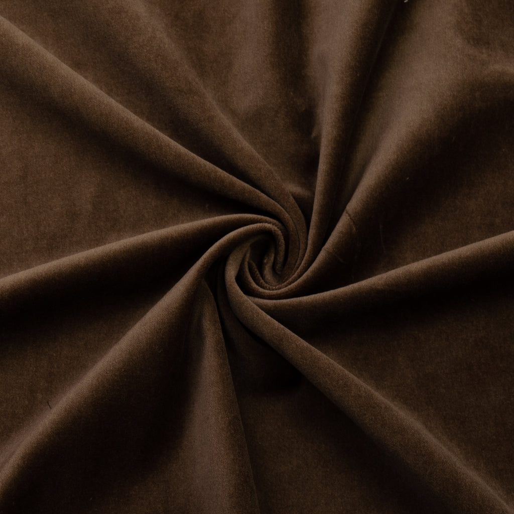 Vinton Brown Cotton Velvet