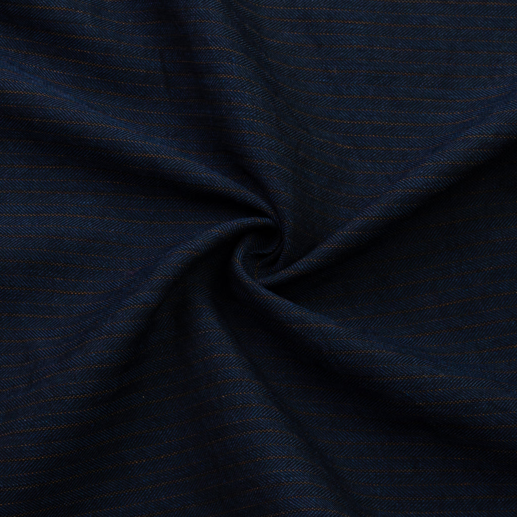 Vionnet Navy Herringbone Cotton Blend