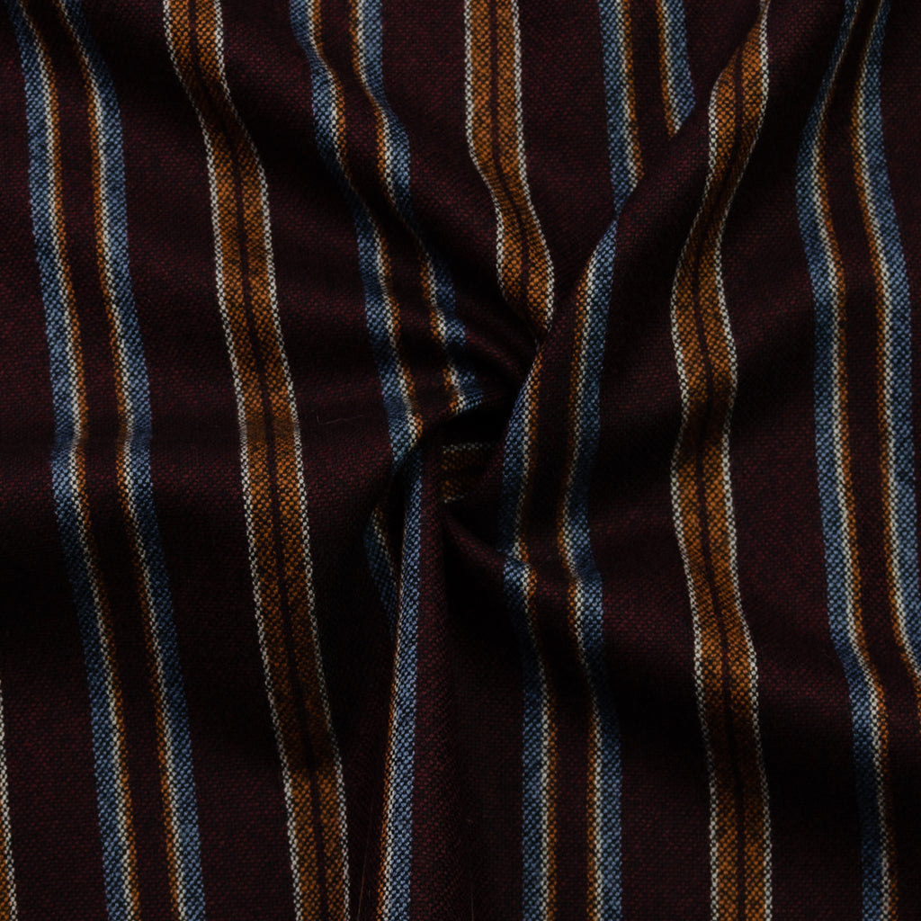 Galini Bordeaux Stripe Wool