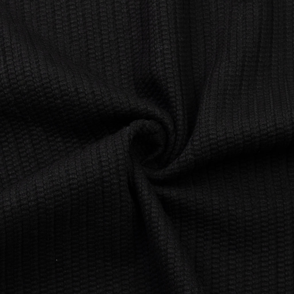 Pasua Black Textured Cotton