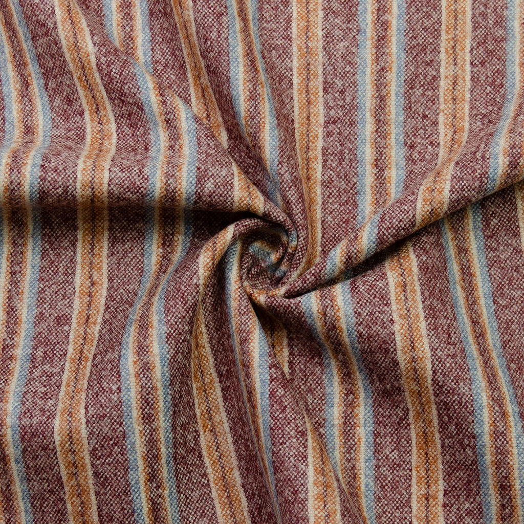 Baka Burgundy Stripe Wool