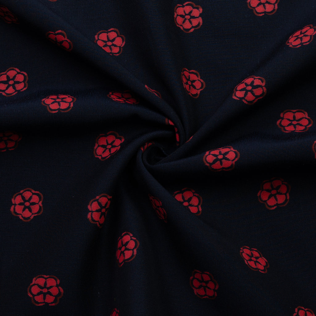 Vincent Red Flowers Cotton Blend