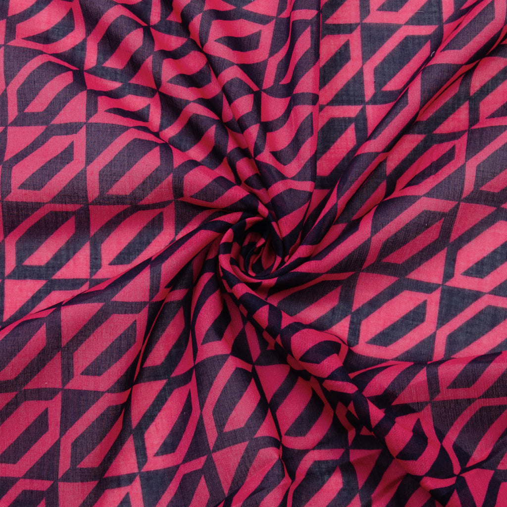 Palma Geometric Printed Cotton Voile