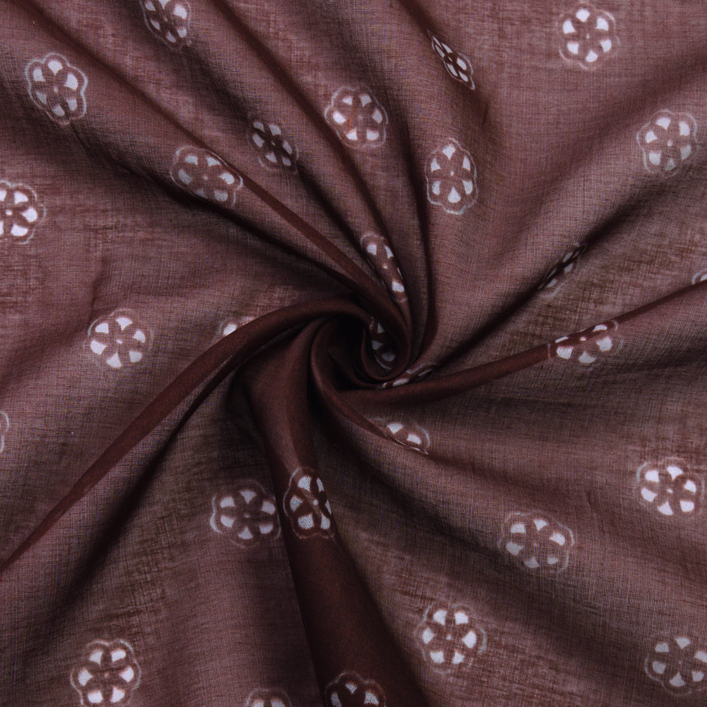 Petey Brown Floral Cotton Voile