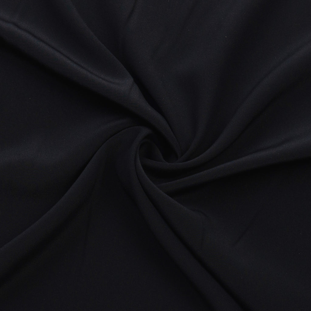 Velda Black Silk Crepe de Chine