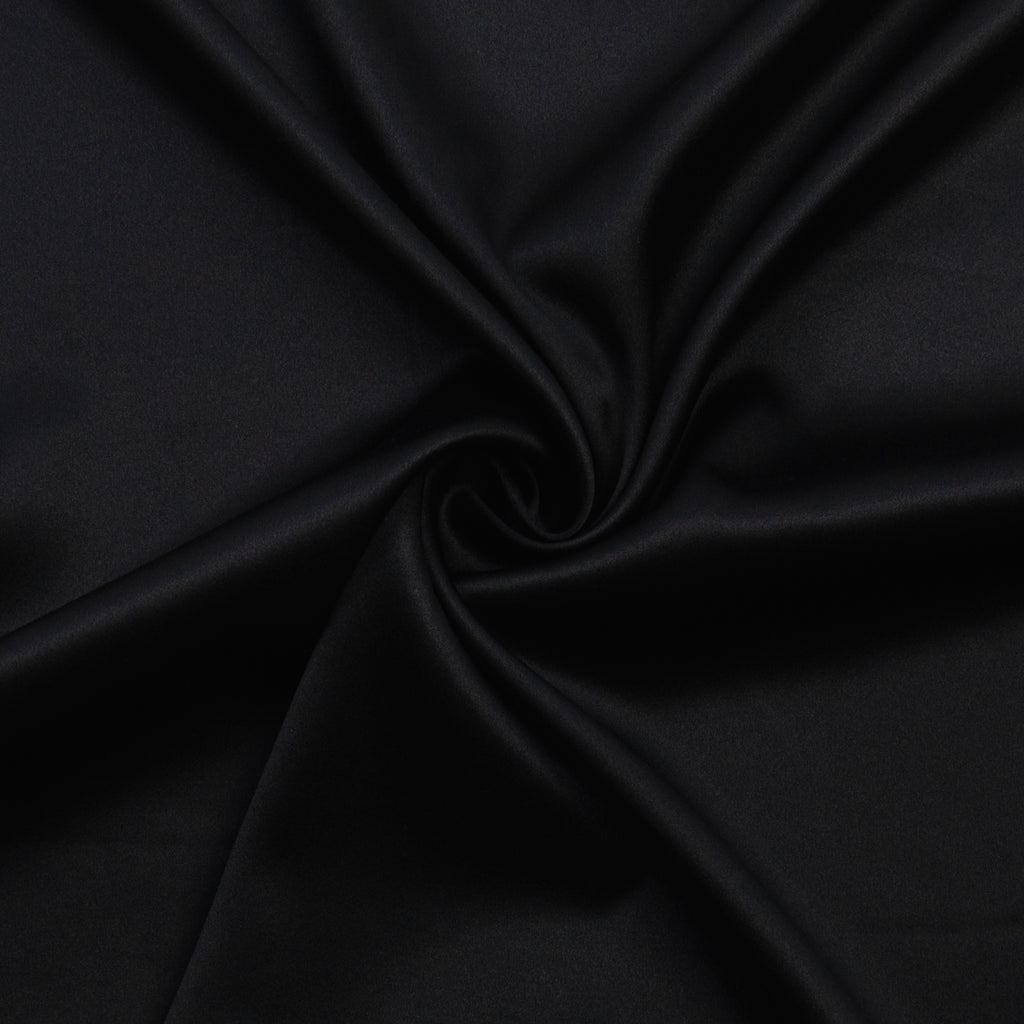 Velma Black Stretch Silk Satin