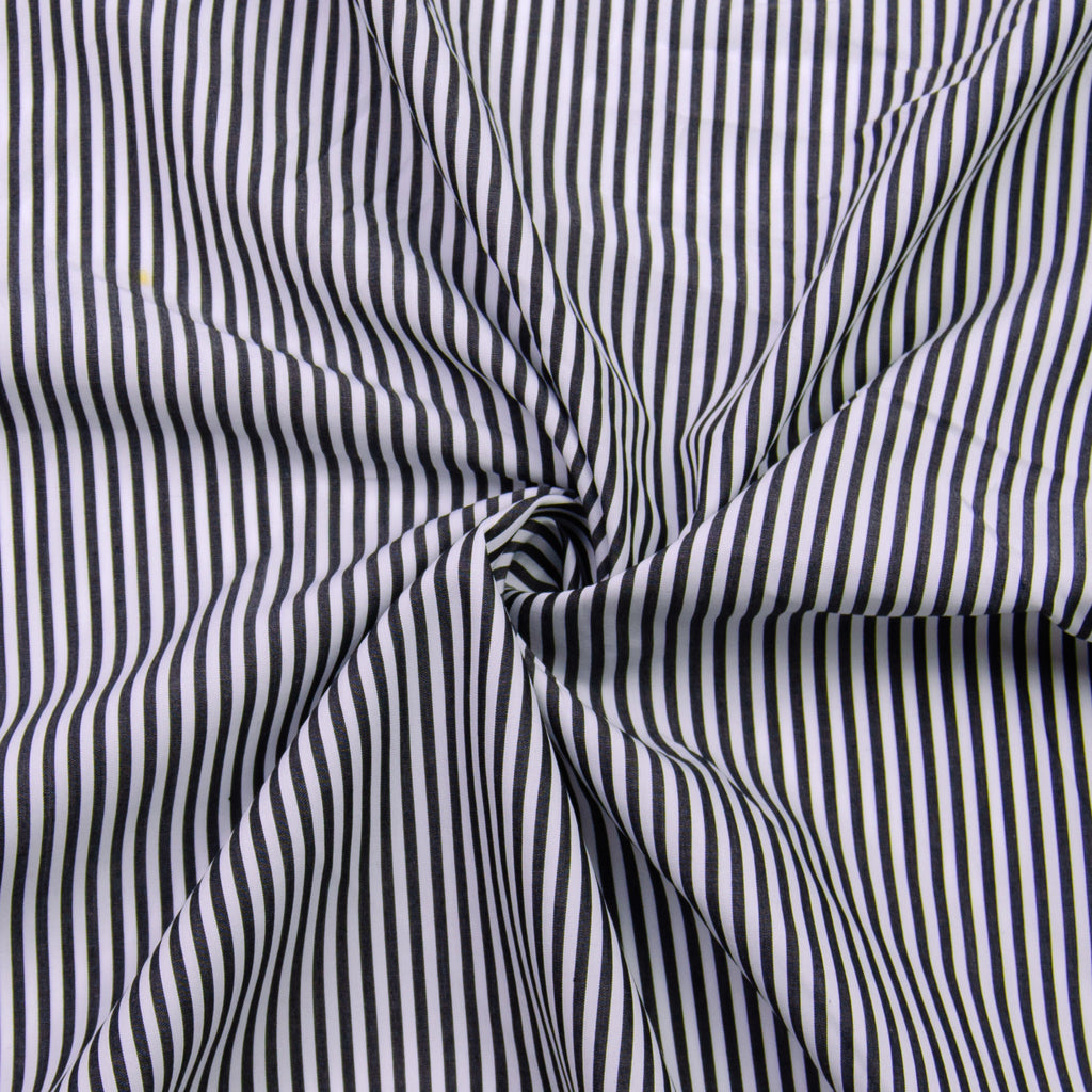 Parvani Black Striped Cotton