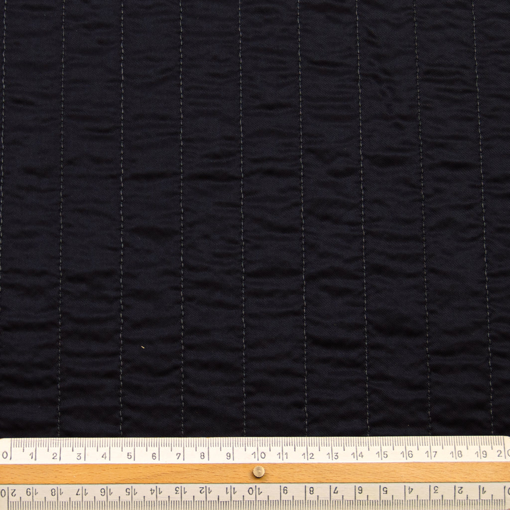 Peggy Black Channel Quilted Cotton