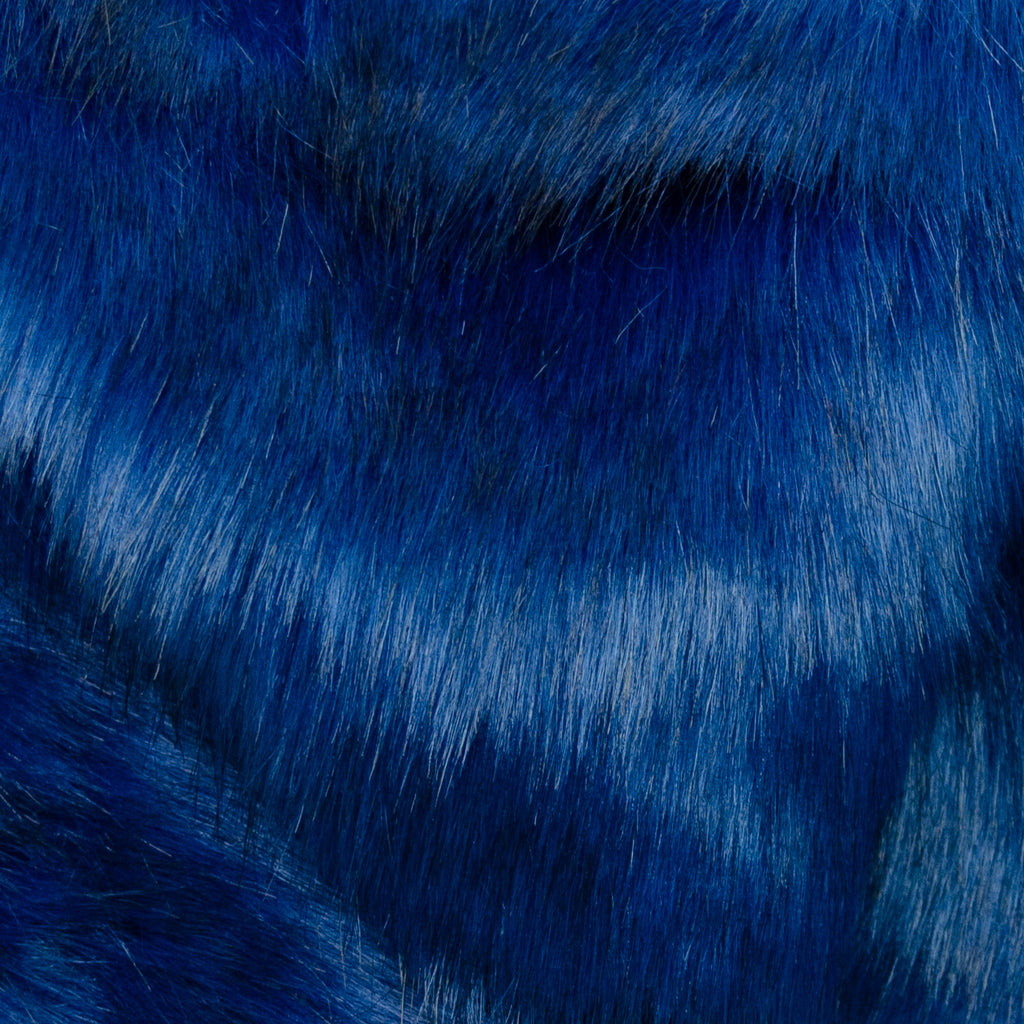 Cais Blue Faux Fur