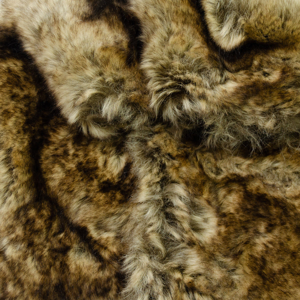 Viva Brown Beige Faux Fur