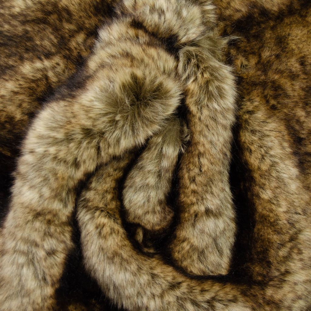 Caleb Brown Beige Faux Fur