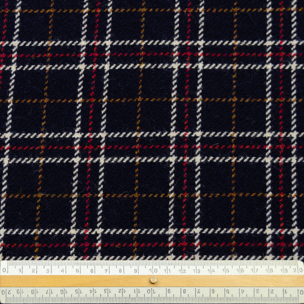 Polo Navy Blue Tartan Wool