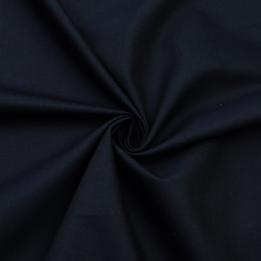 Perridot Navy Blue Cotton Silk Twill